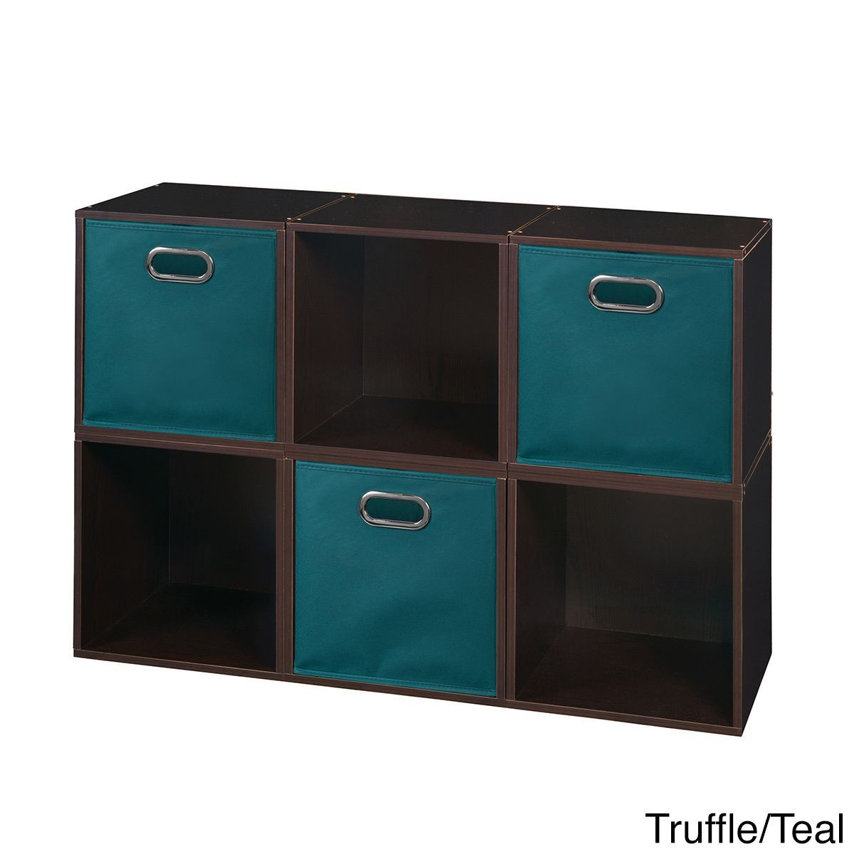 Regency Seating Niche Cubo Storage Set - 6 Cubes and 3 Canvas Bins