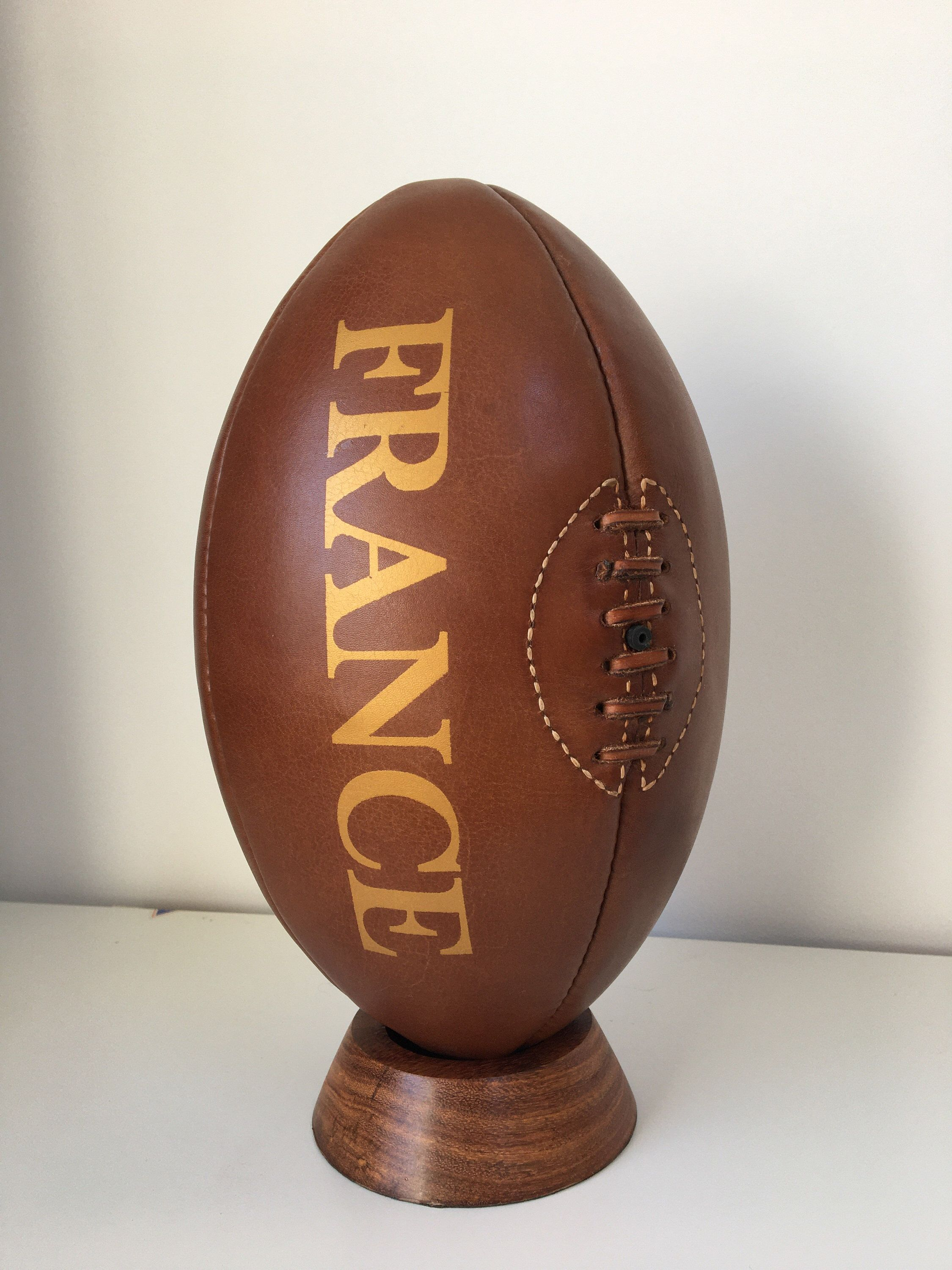 Rugby Vintage France Rugby Ball / Leather Rugby Ball