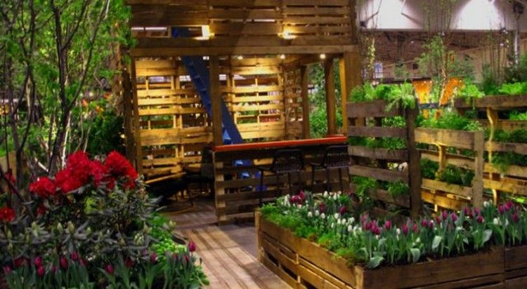 Delicieux Wooden Pallets Gardening Idea