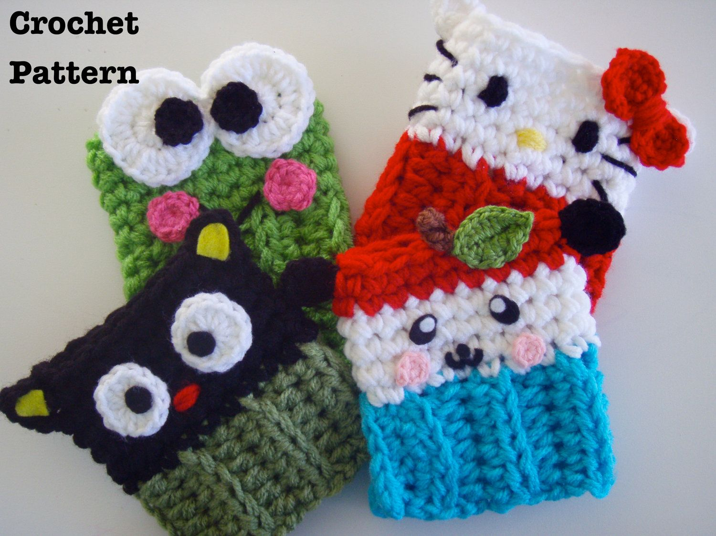 Hello Kitty & Friends Crochet Coffee Cozy Patterns PDF- All 4