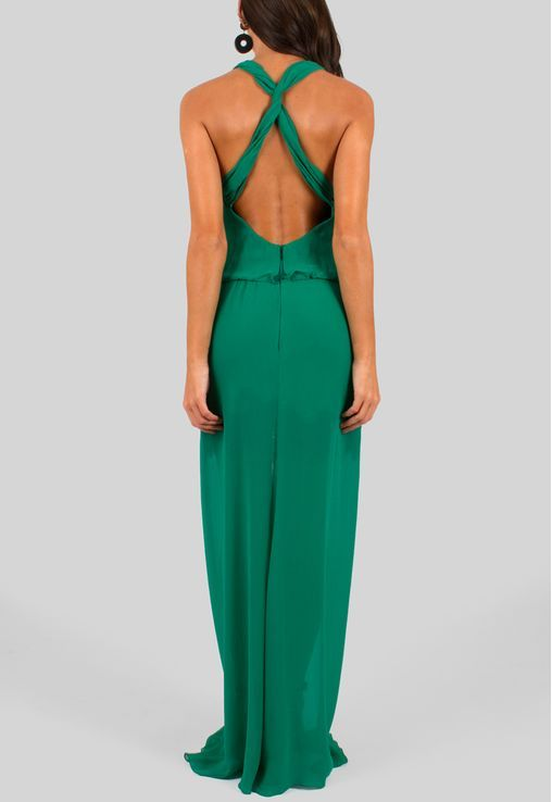 820a435ff3 vestido-briana-longo-de-seda-com-super-decote-e-fenda-animale-verde ...