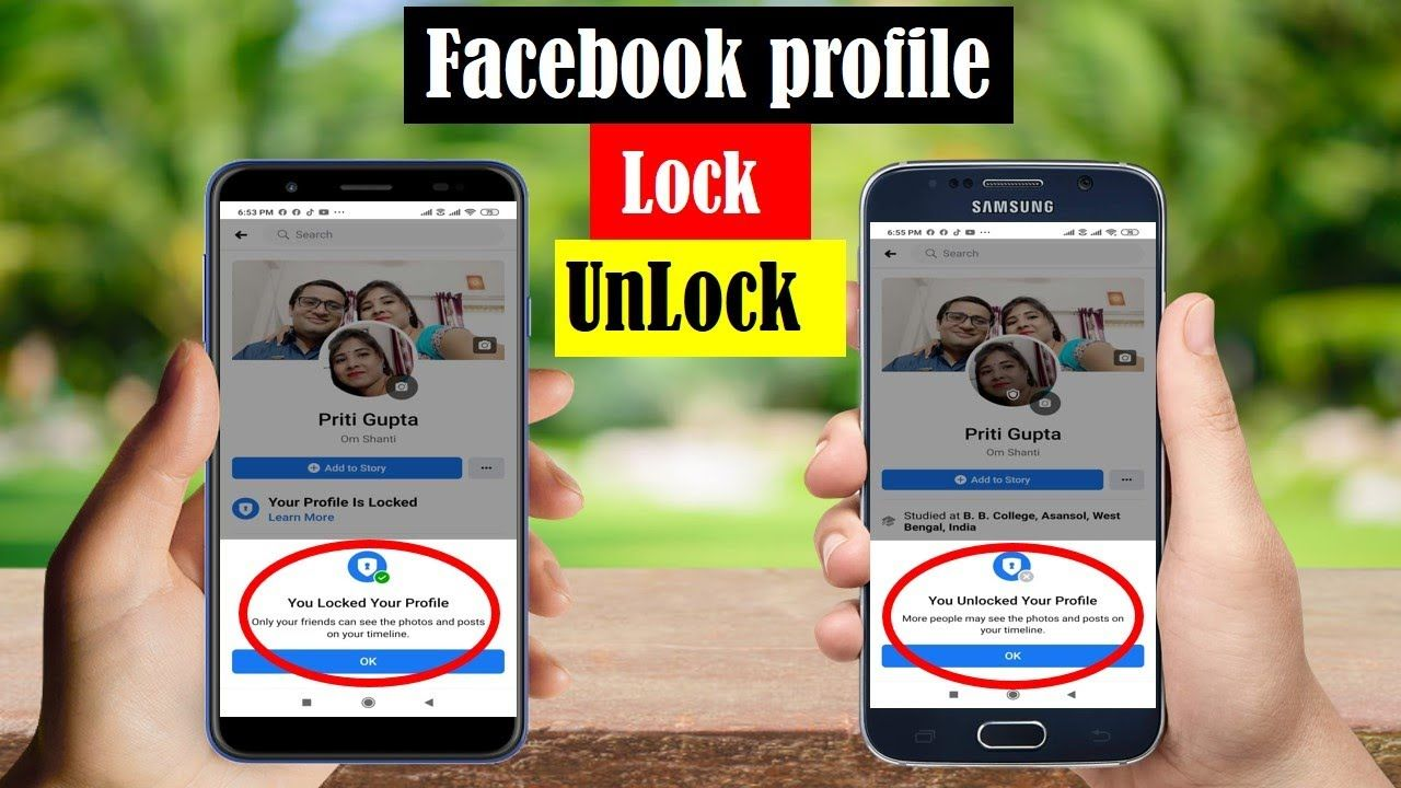 How To Locked Unlock Facebook Profile Facebook Profile Locked Unlo Facebook Profile Profile Lock