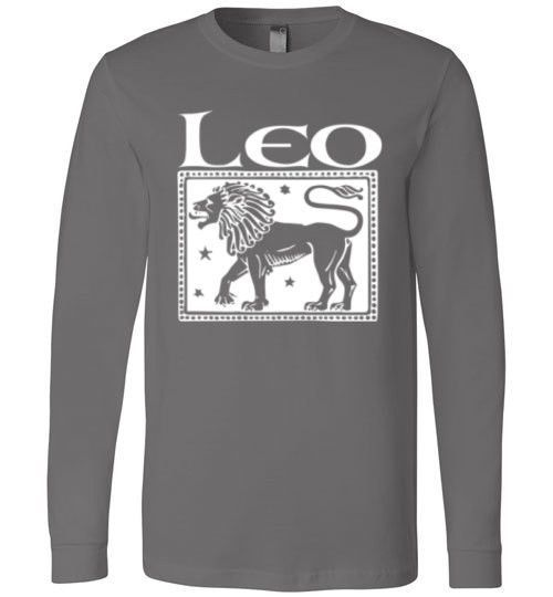Leo Women's Zodiac Sign Canvas Long Sleeve T-Shirt