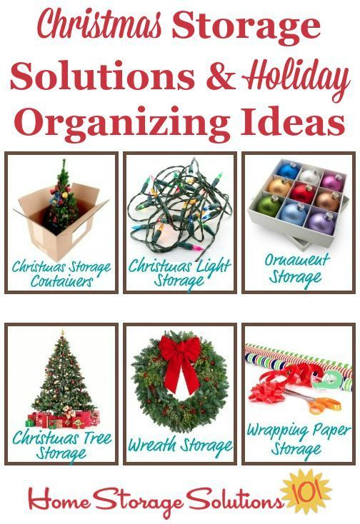 Christmas Storage Solutions  Holiday Organizing Ideas Home