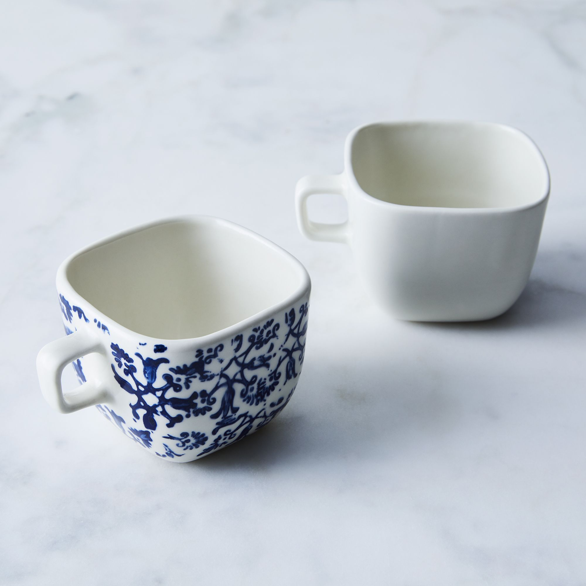 Square Coffee Cup (Set of 2) Pottery in 2019 Coffee
