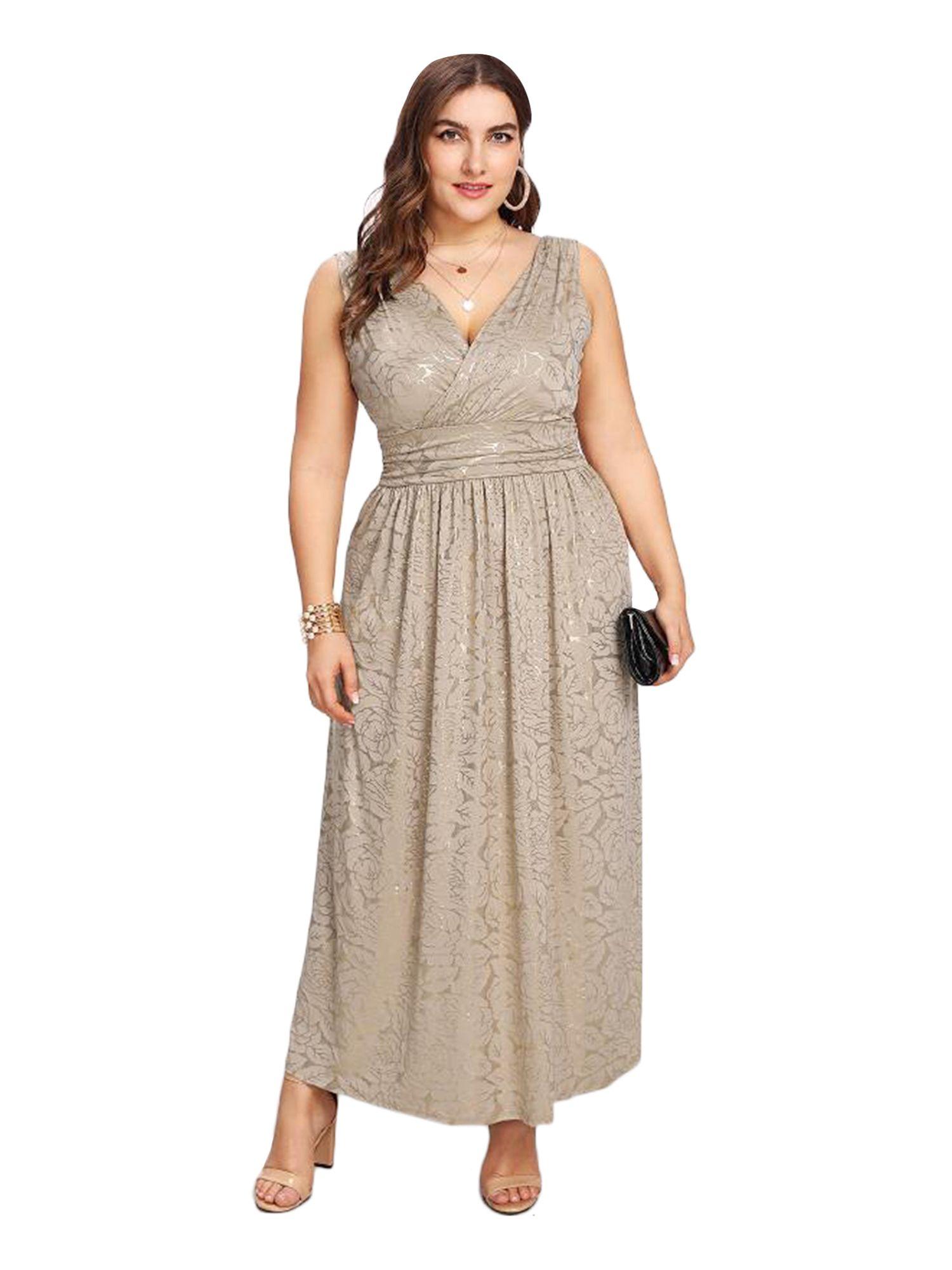 27d6b6ff5f8 ESPRLIA Women s Plus Size Sequin Party Club Cocktail Maxi Dress ...