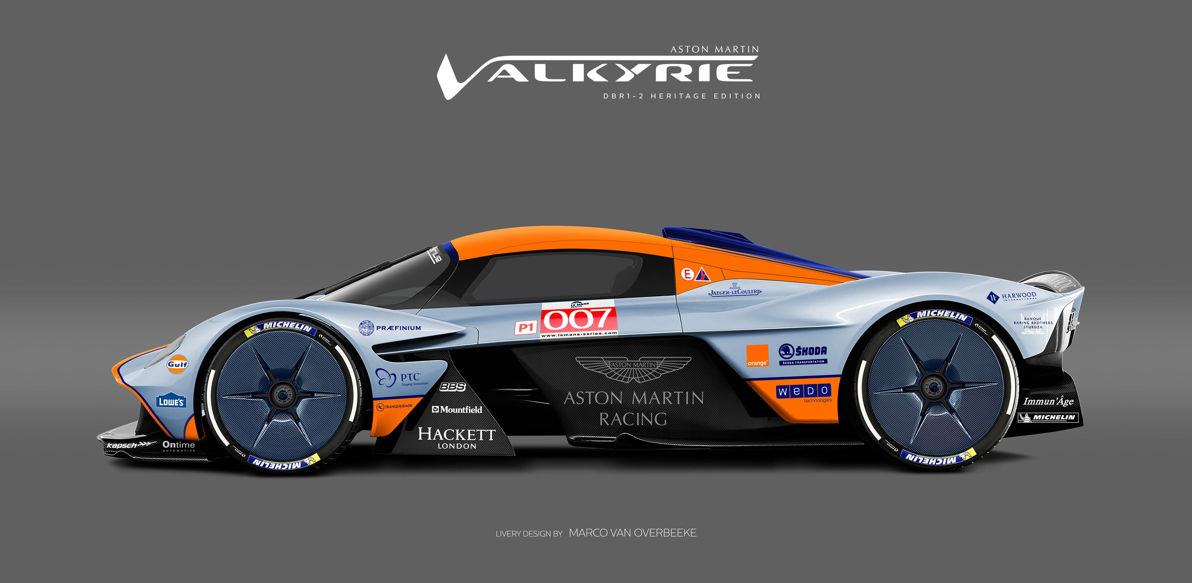 Aston Martin Valkyrie Livery Project Gulf Dbr1 2 Hommage Edition