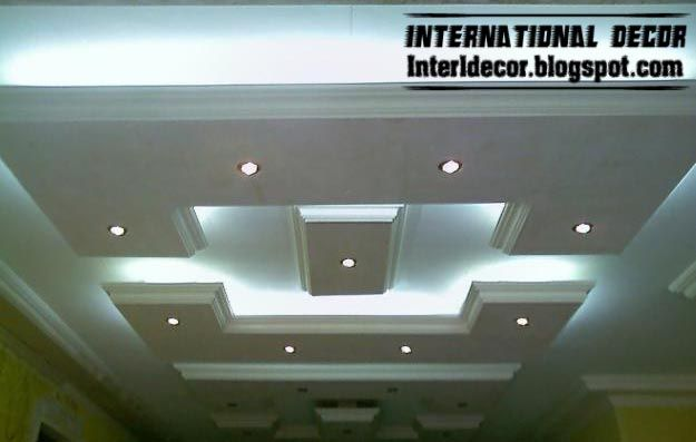 New classic and calm designs of gypsum board plaster roof for Roof false ceiling designs