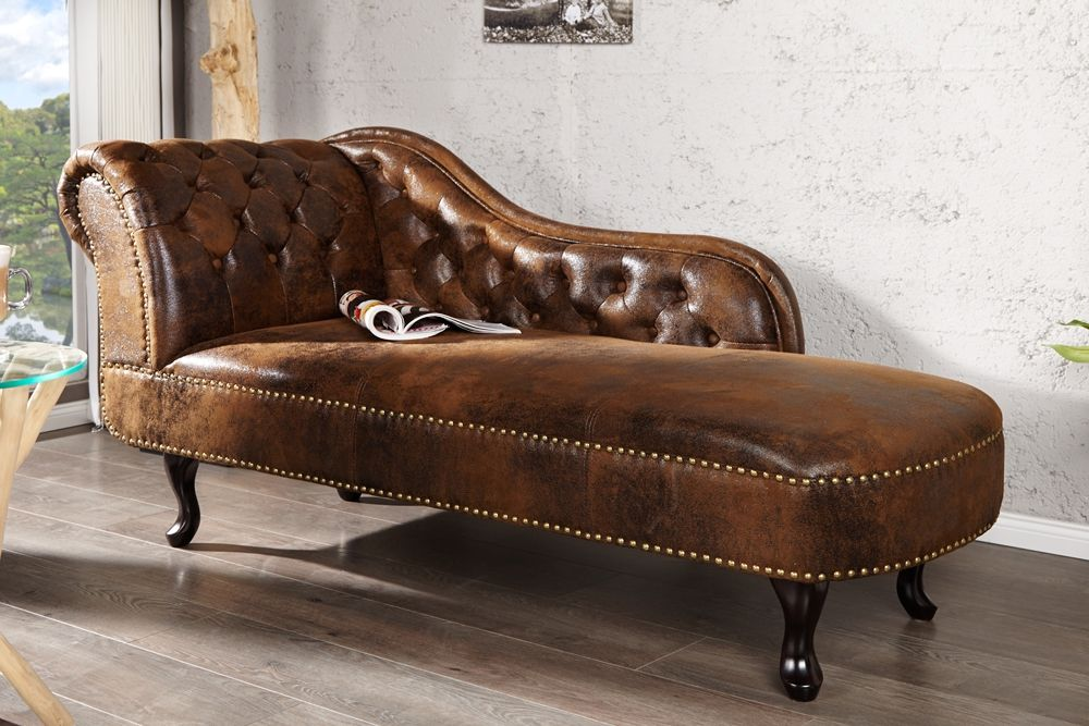 Recamiere Chaiselongue diese klassische chesterfield recamiere chaise longue wird sie