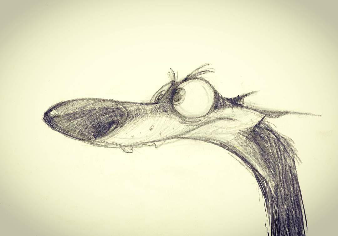 Stupid dog. #characterdesign #animation #MHD_kheirandish #mo_andish_art #illustrate #drawing sketch doberman