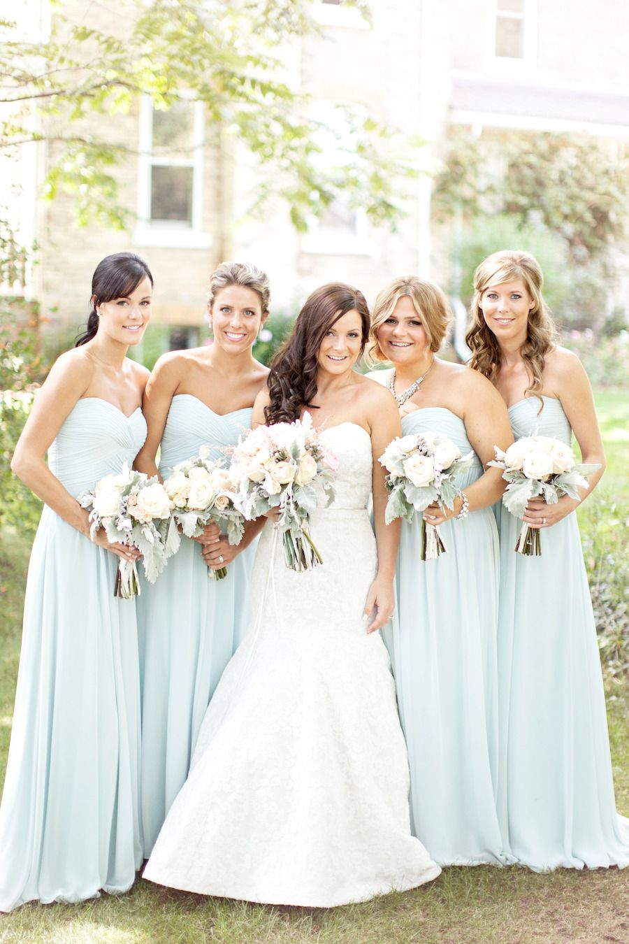 Canadian farm wedding ontario toronto and farming pale blue bridesmaids can resist pinning pretty color combos ombrellifo Gallery