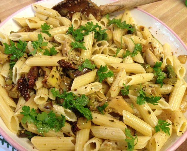 Mediterranean Asparagus & Artichoke Pasta 7
