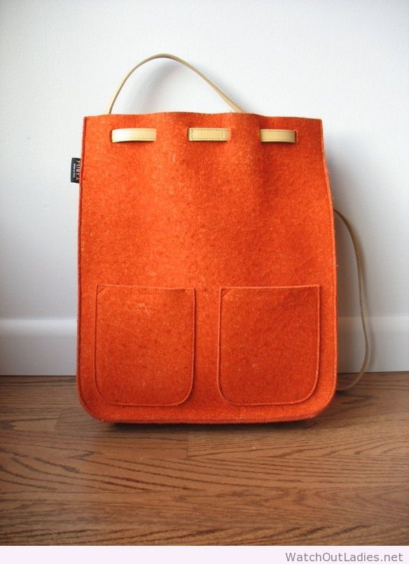 Nice felted wool backpack with leather straps | watchoutladies.net ...