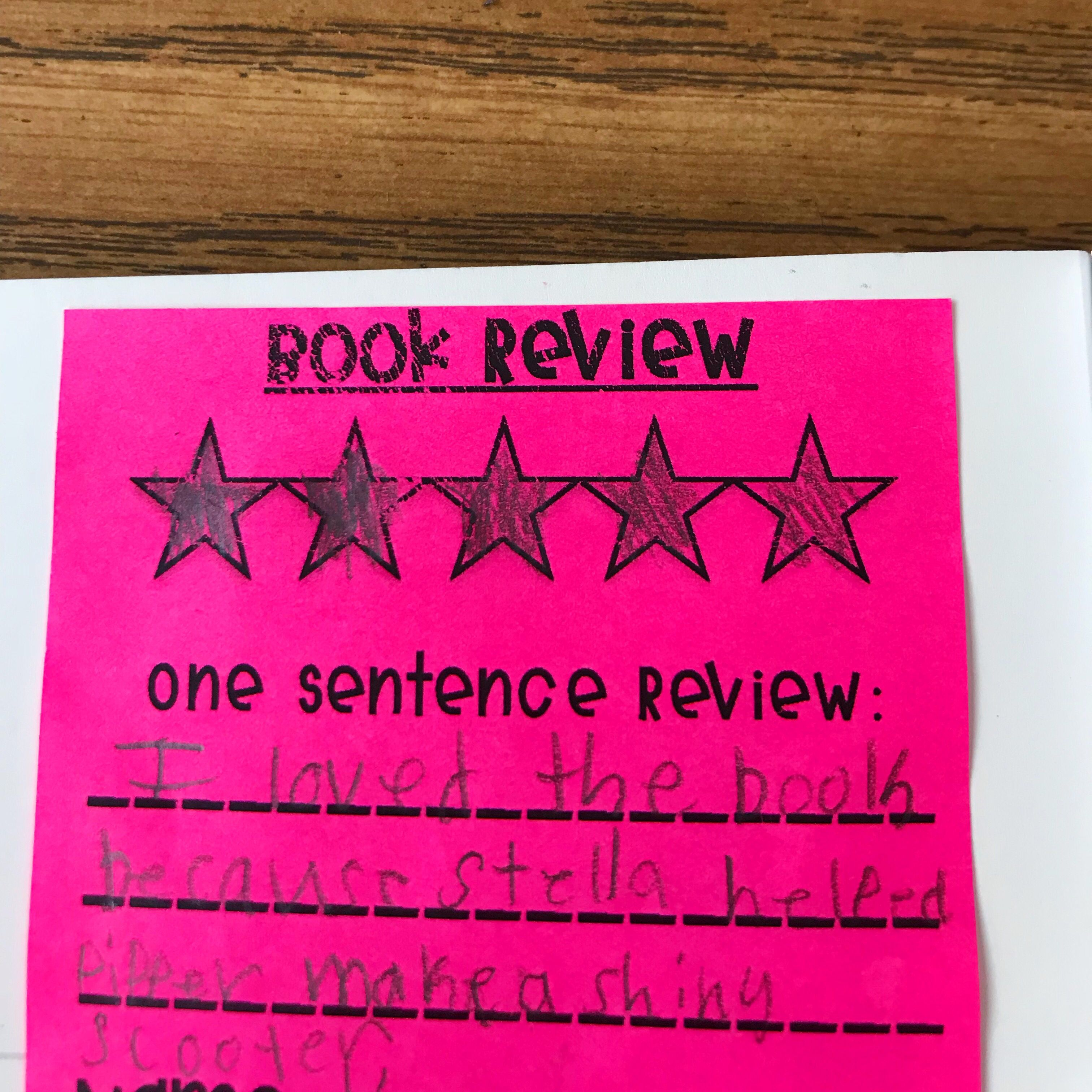 Printable Post It Book Review With Stop And Jot