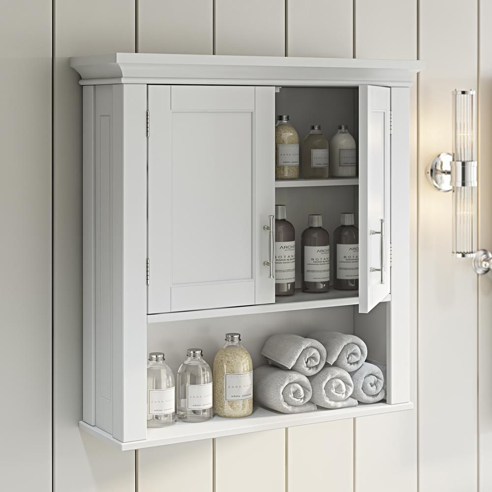 15+ Bathroom wall mounted storage cabinet with 2 shelves ideas