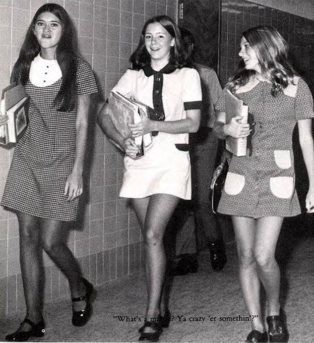 Retrospace: Mini Skirt Monday #210: Minis On Campus (Part