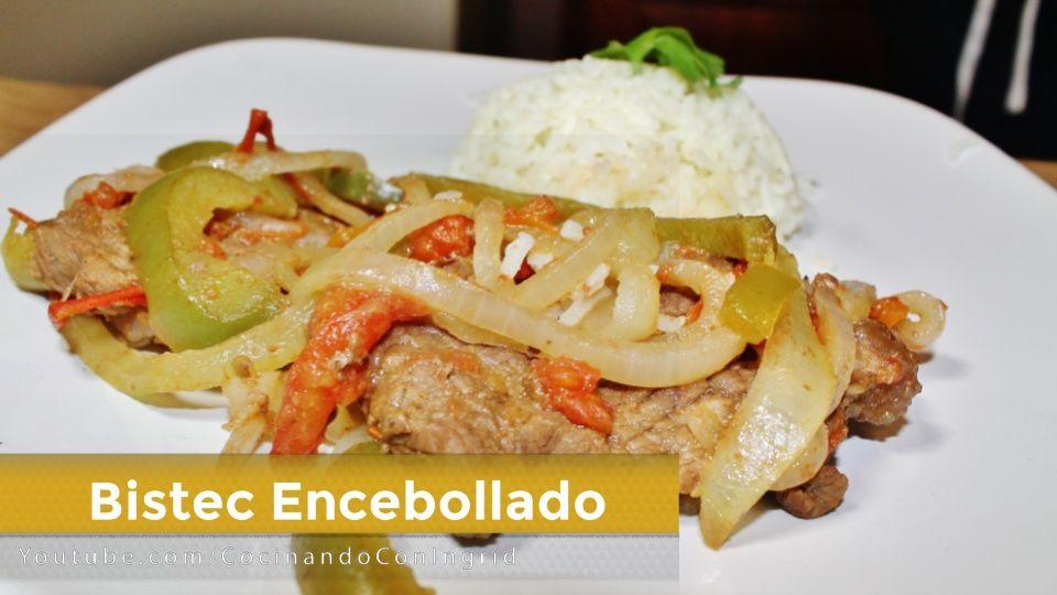 Receta facil de comida salvadoreña, BISTEC ENCEBOLADO,una receta ...