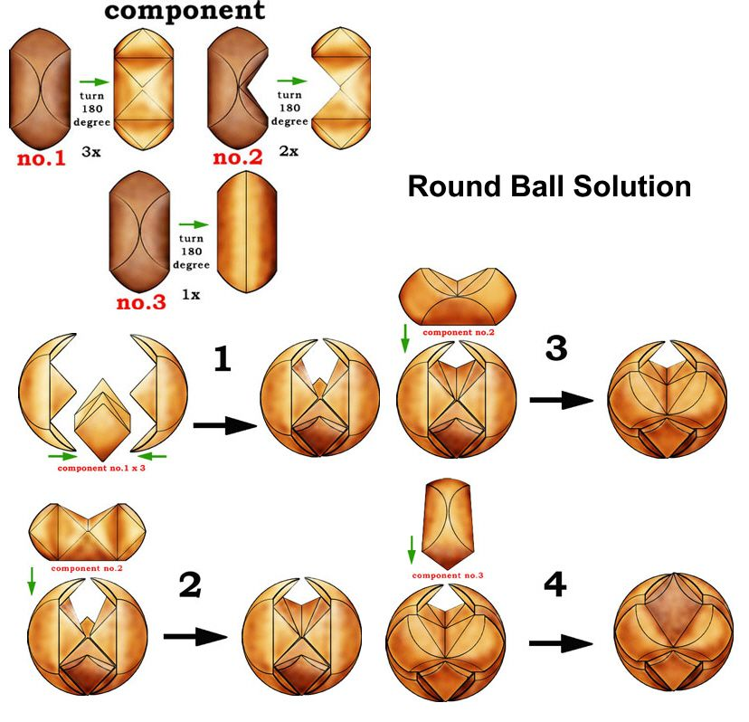 Round Ball Solutions Wooden Puzzles Solution 3d Brain Teasers Jigsaw