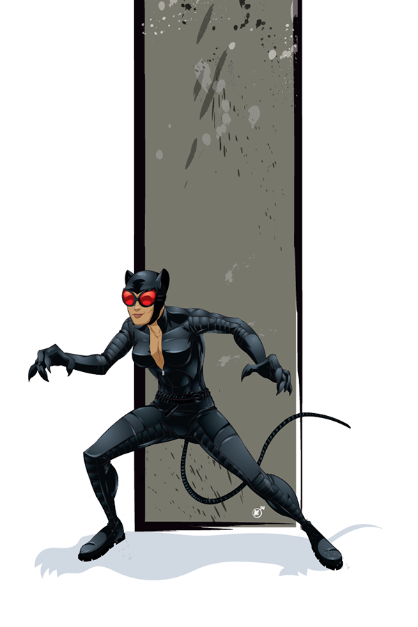 Catwoman by Kevin Myers, via Behance