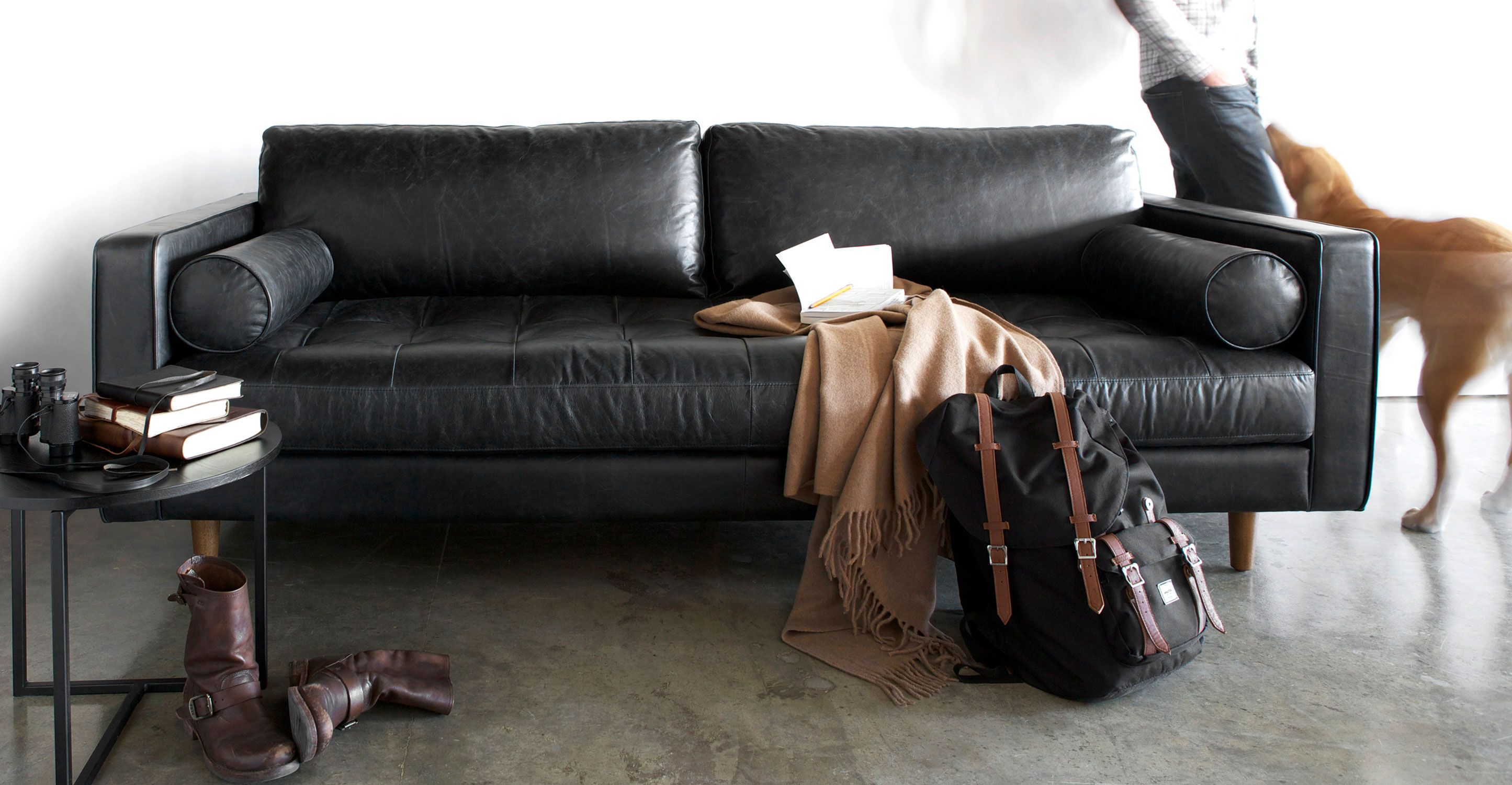 century furniture sofa quality ikea with removable cover sven oxford black living pinterest