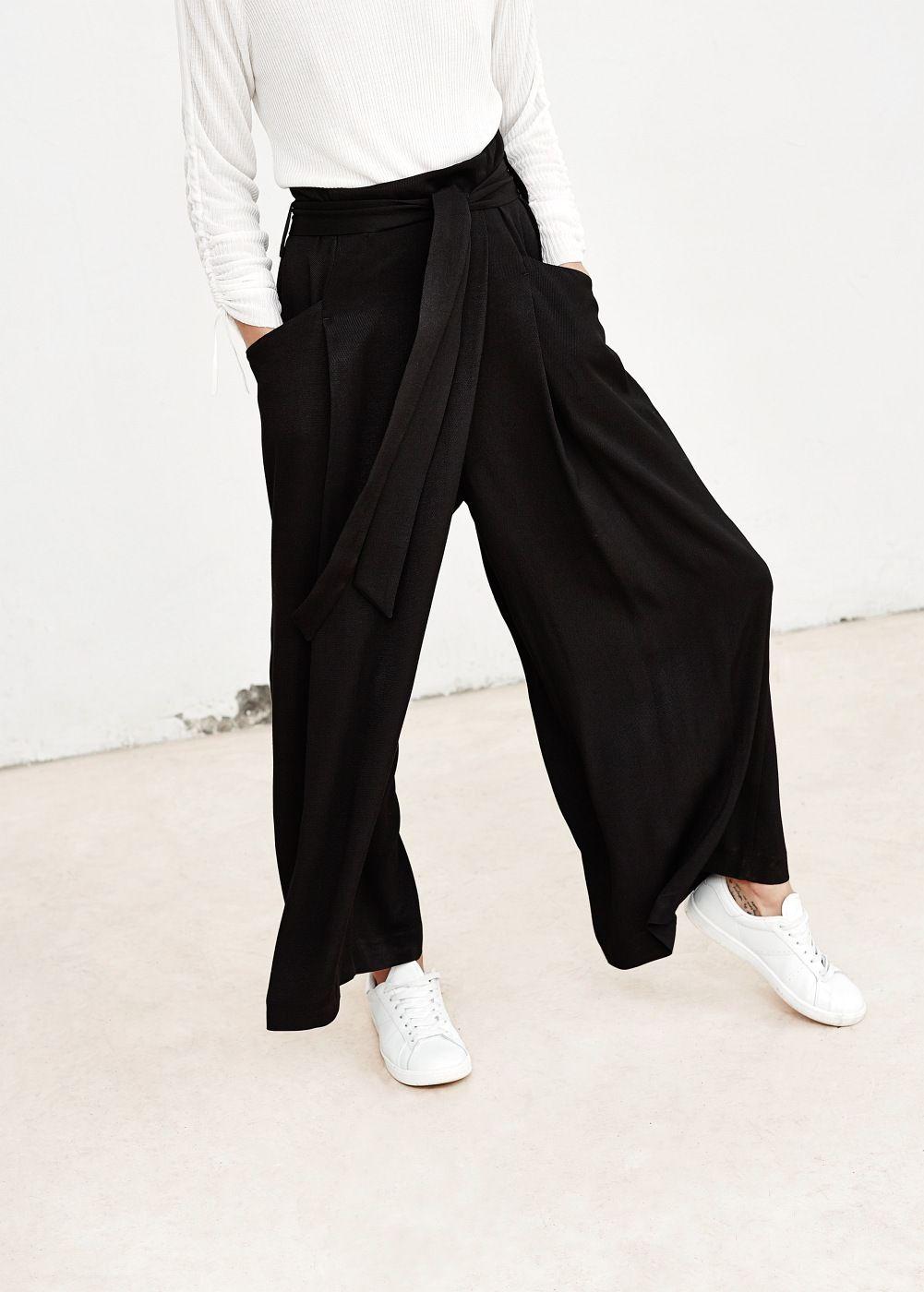 Premium - pantalón palazzo capri - Mujer  d80f81f5e067