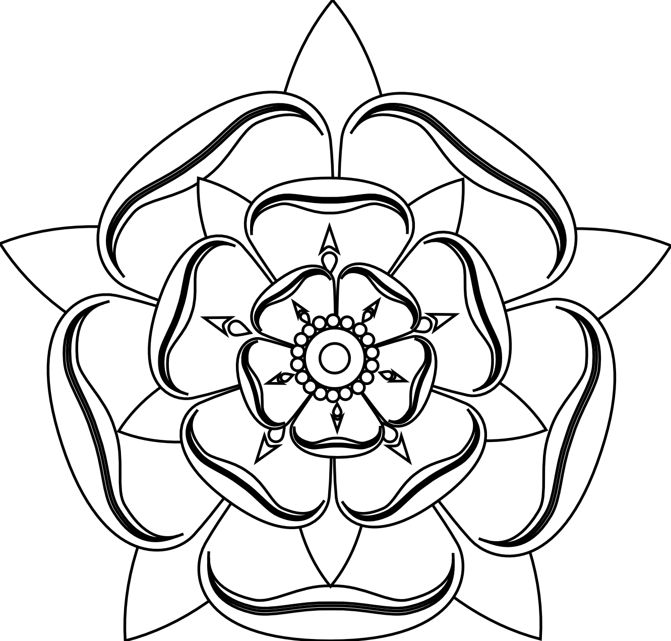 Tudor rose tattoo black google search tattoo ideas pinterest the five petaled rose symbol of venus the path of beauty leads to power the leaves of a plant draw buycottarizona Choice Image
