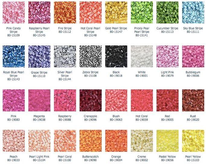 Perler bead color gallery | PERLER BEADS | Perler beads