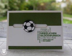 Geburtstagskarte Spinner Card Fussball Card Making Card