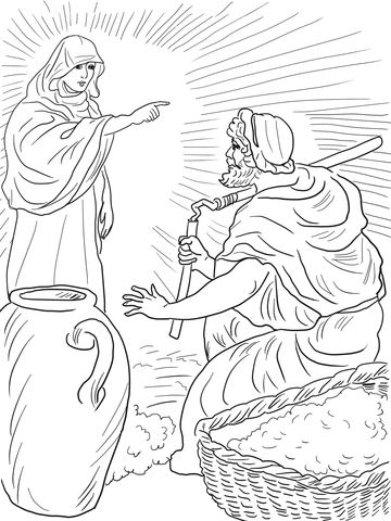 God S Angel Called Gideon Coloring Page From Judge Gideon Category