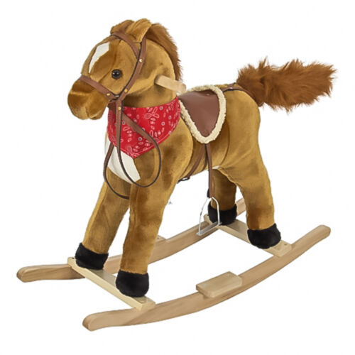 New Hot Toy Gift Kids Child Toddler Plush Rocking Horse Ride On Toy W Sounds In 2020 Plush Rocking Horse Rocking Horse Toy Toddler Plush