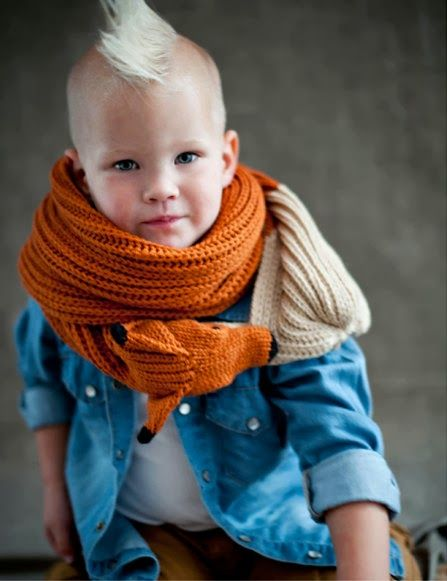 6260efdf989 Knitted fox Scarf by Nina Fuhrer. Machine knitted and hand finished animal  scarves.