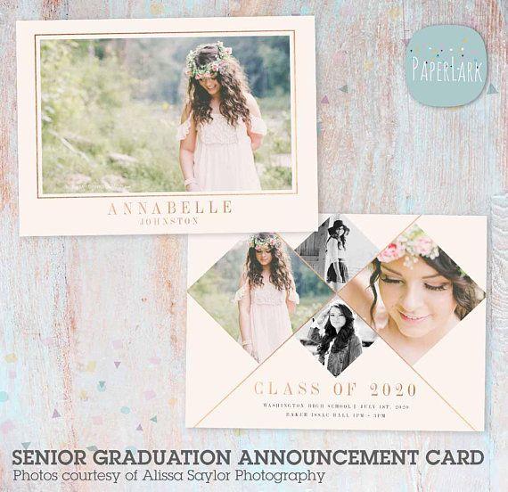 ON SALE Senior Announcement Card, Graduation Card, Senior Card