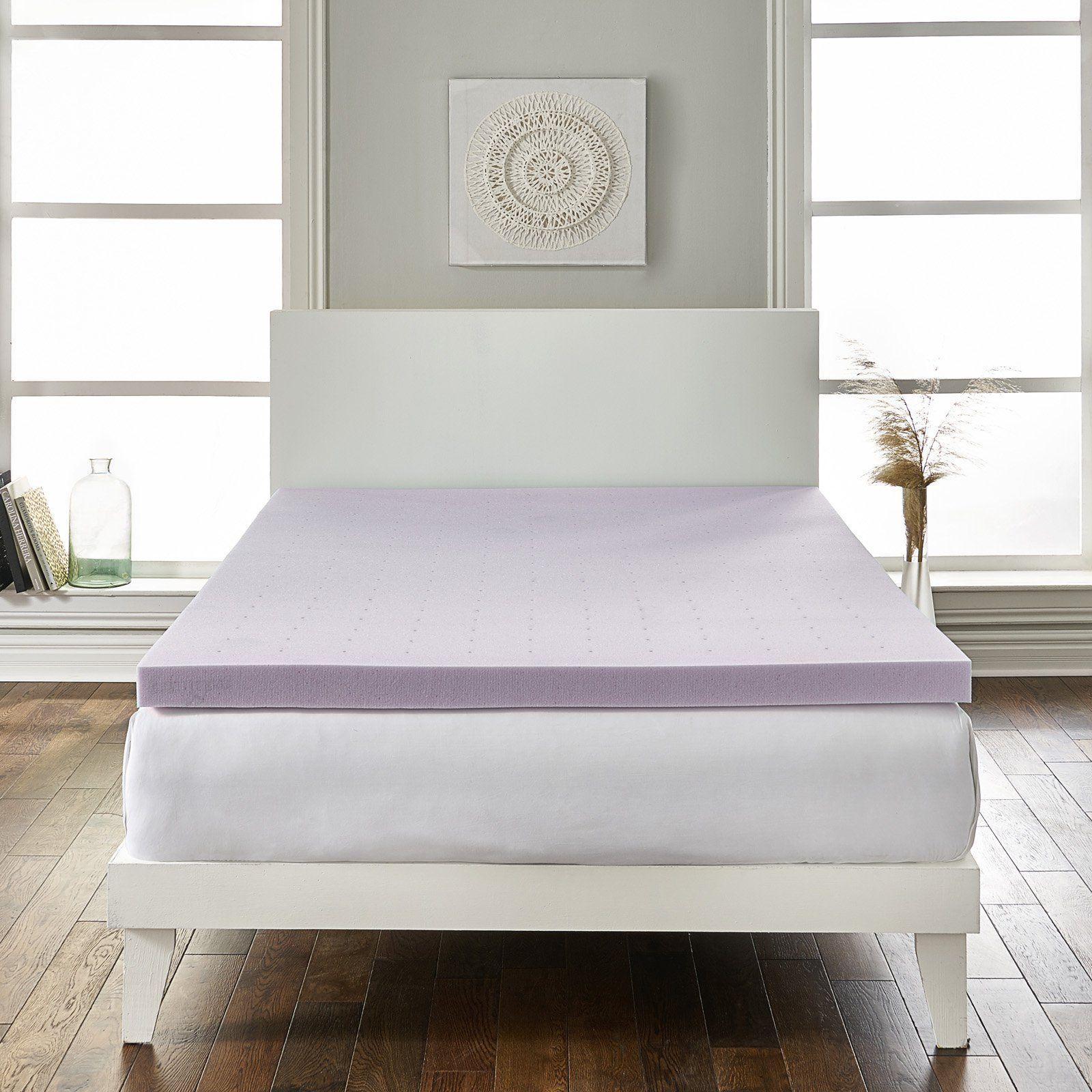 2 in. Lavender Infused Foam Mattress Topper by LoftWorks