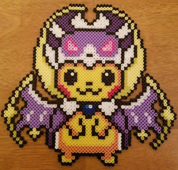 Pikachu Lunala Perler Perler Pokemon Perler Beads Hama
