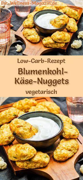 Low Carb Blumenkohl-Käse-Nuggets - gesundes, vegetarisches Hauptgericht #kohlenhydratarmerezepte