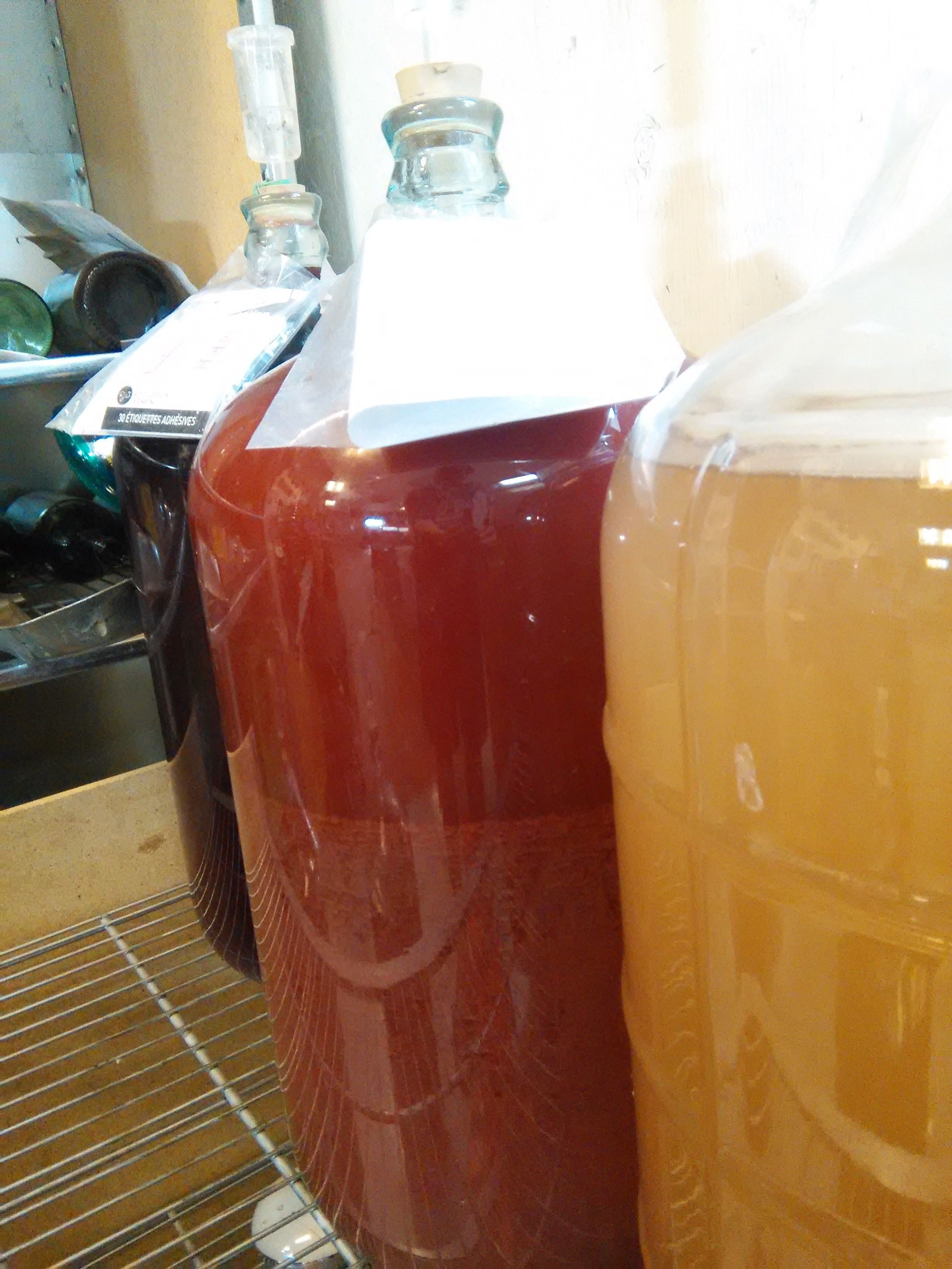 Our second batch of Cherry Wine ! It looks like it will be more of RosE of wine !