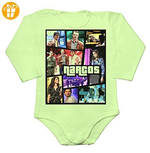 Pablo Escobar vs Popular Video Game Parody Poster Baby Long Sleeve Romper Bodysuit XX-Large - Baby bodys baby einteiler baby stampler (*Partner-Link)