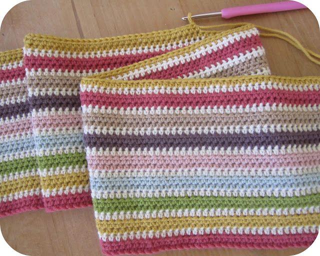 Stripe Blanketne In Half Treble Crochet In Uk Terms