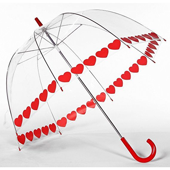 Elite Rain Umbrella Printed Bubble Umbrella - Heart String