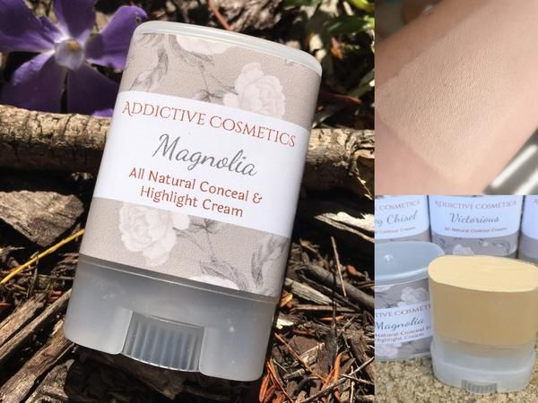 MAGNOLIA Conceal and Highlight Cream- Use on Eyes, Cheeks and Lips! All Natural and Vegan Friendly.