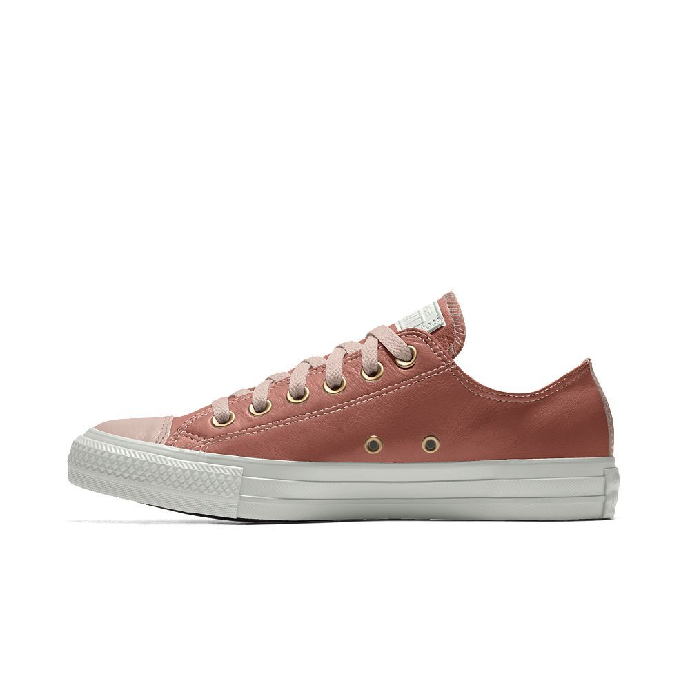 30af511f8618 Converse Custom Chuck Taylor Premium Leather Low Top Shoe Size 4 (Red)