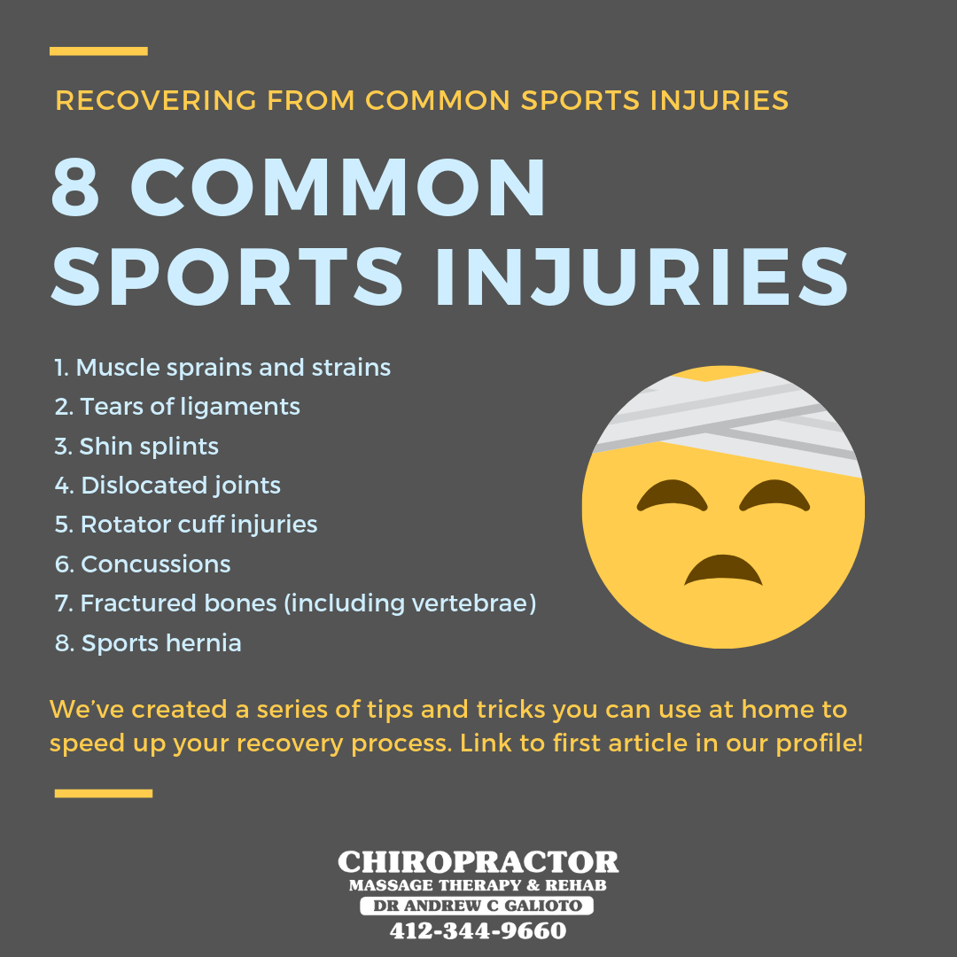 What types of injuries are common among athlete? How can