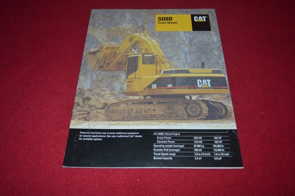 Caterpillar 5080 Front Shovel Dealer's Brochure DCPA6 ver3