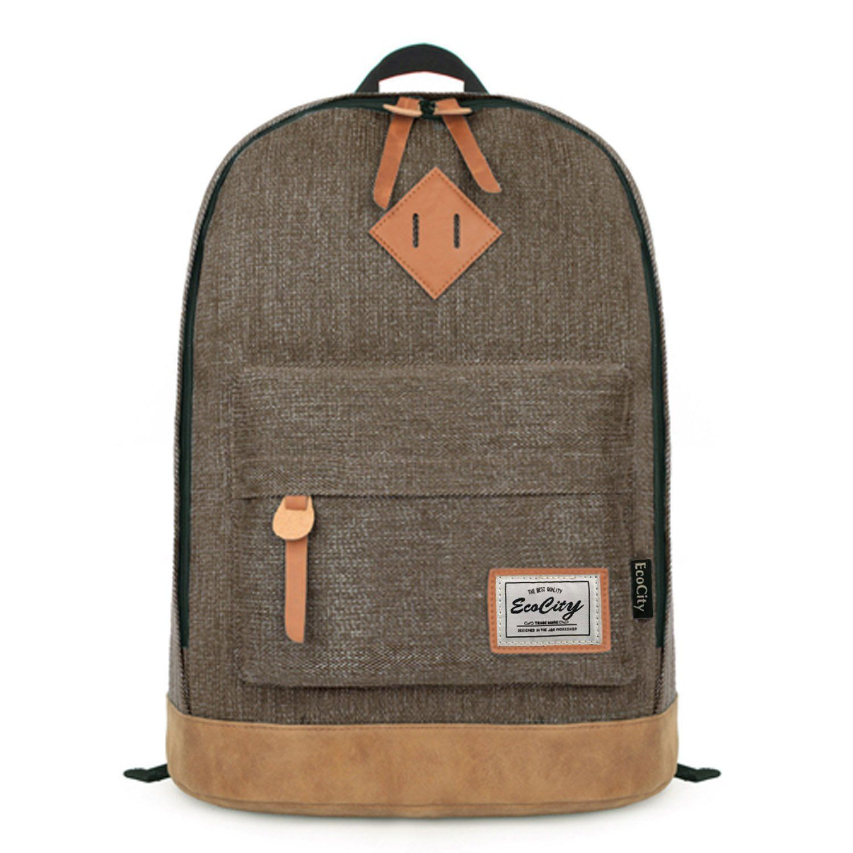 ecocity classic vintage college school laptop backpack