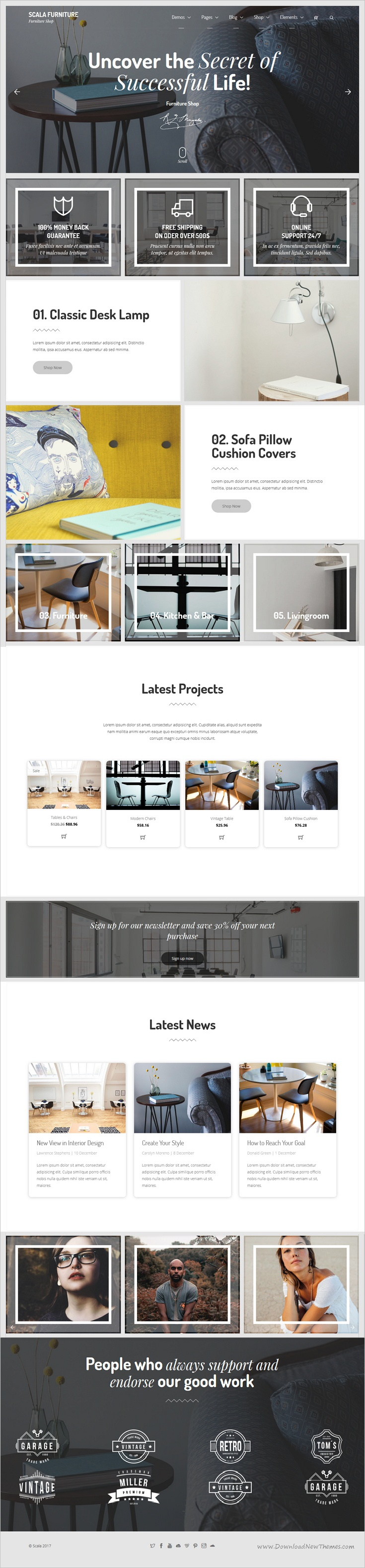 Scala | Multi-Purpose Onepage - Multipage Template | Website themes