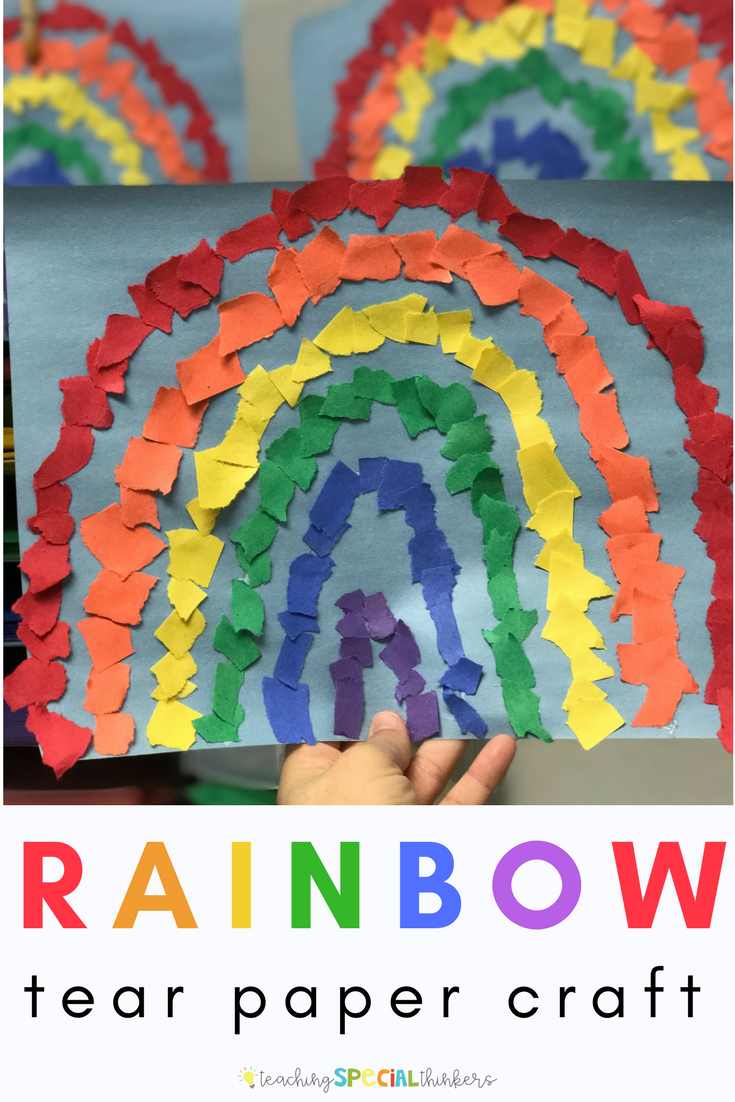 Rainbow Tear Paper Craft Activities For Early Grades Pinterest