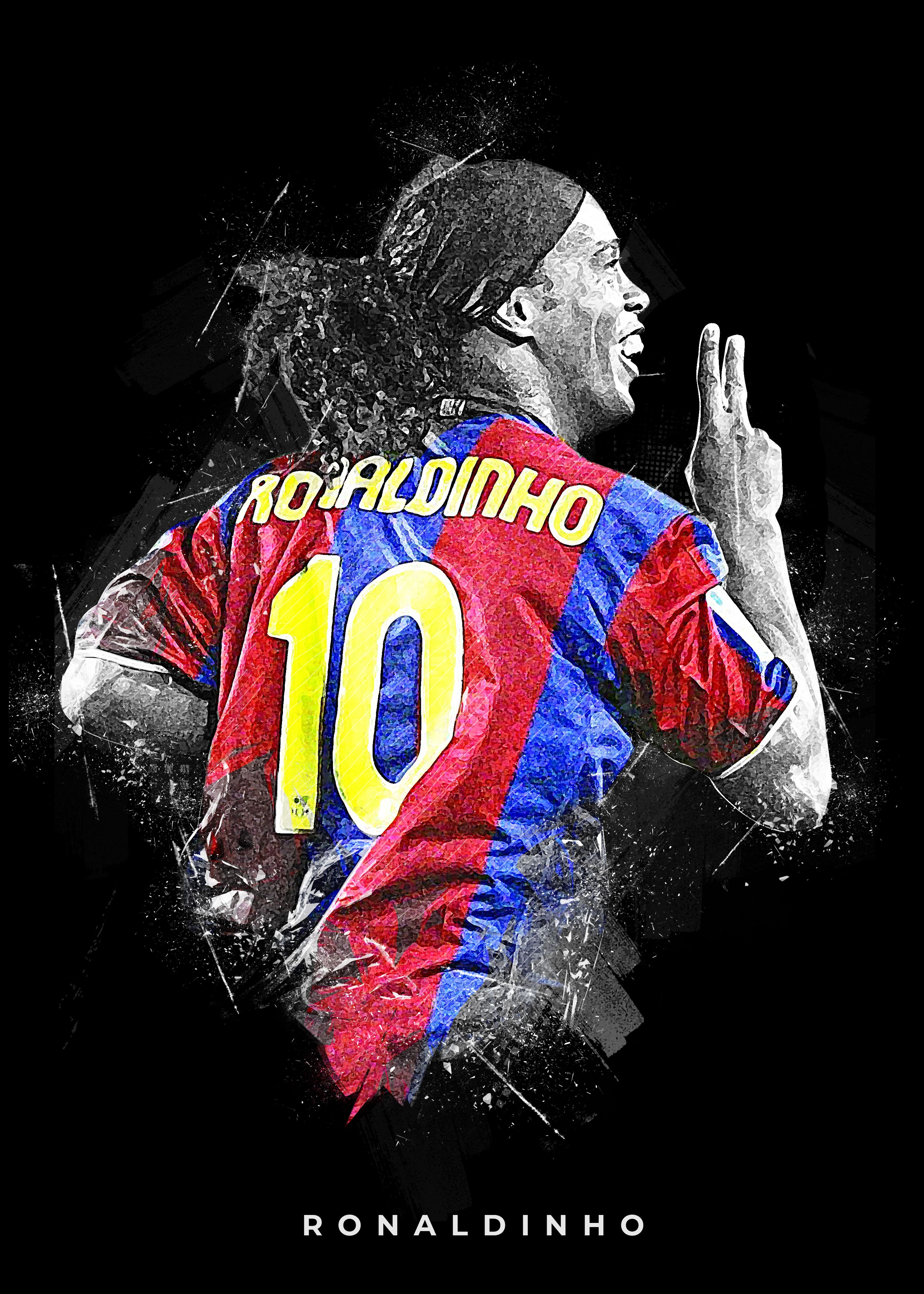 Ronaldinho Barcelona Iconic Art Football Artwork Football Illustration Ronaldinho Wallpapers