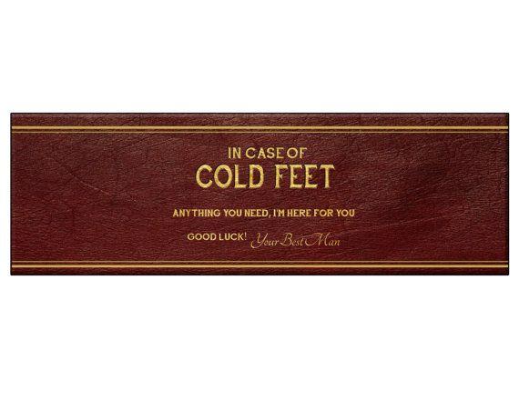 Printable Best Man Groomsmen Wedding Gift For Groom Instant Download Unique In Case You Get Cold Feet Socks Wrapper