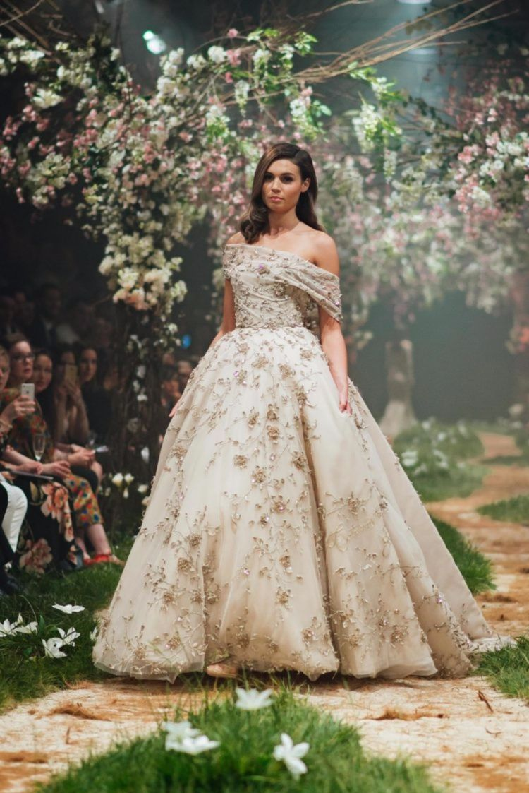 Runway disney inspired gowns from paolo sebastian springsummer