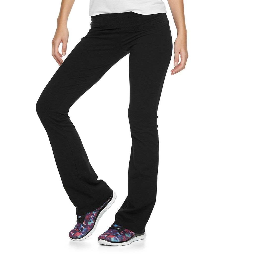 6e25d4045d37 Juniors  SO® Fold-Over Skinny Bootcut Yoga Leggings